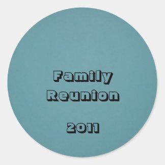 Family Reunion 2011 Round Stickers