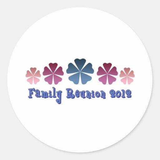 Family Reunion 2012 Round Stickers
