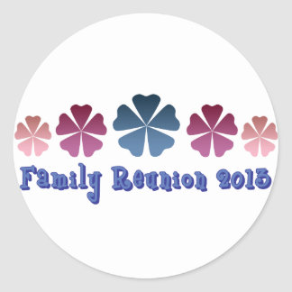 Family Reunion 2013 Classic Round Sticker