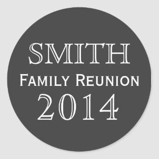 Family Reunion Black Background Classic Round Sticker