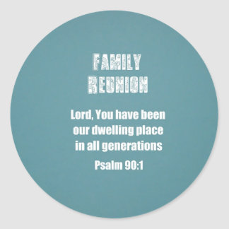 Family Reunion Classic Round Sticker