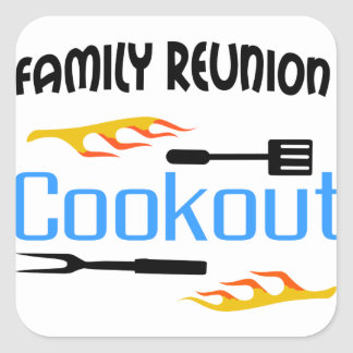 Family Reunion Cookout Square Sticker