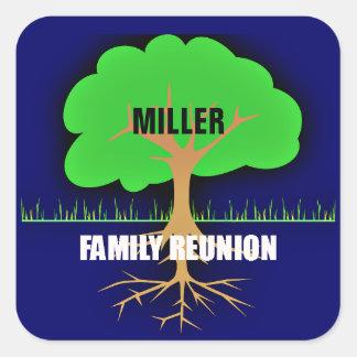 Family Reunion Family Tree Square Sticker