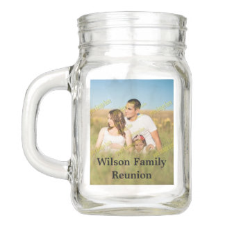 Family Reunion Photo Create Your Own Mason Jar