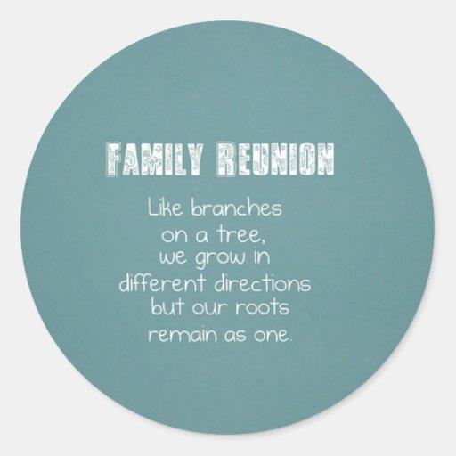 Family Reunion Sticker