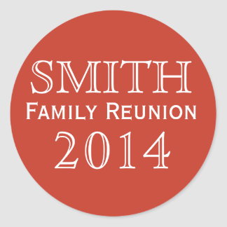 Family Reunion Round Sticker