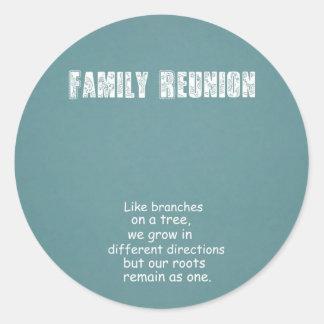 Family Reunion Round Stickers