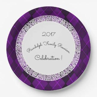 Family-Reunion_Template(c)Purple-Jewel Paper Plate