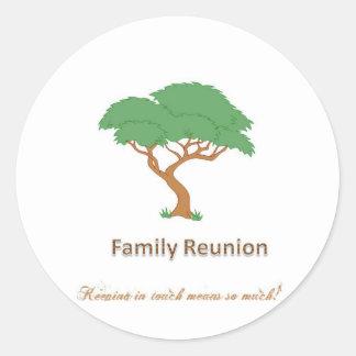 "Family Reunion Tree - 1 1/2"" Sticker(20 per sheet) Round Sticker"