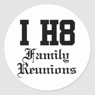 family reunions classic round sticker