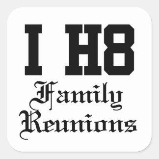 family reunions square sticker