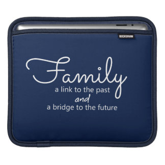 Family Saying iPad Tablet Sleeve (Dark Blue)