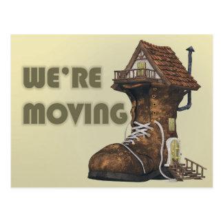 Family Shoe House Change of Address Postcard