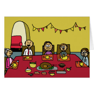 Family Thanksgiving Dinner Happy Thanksgiving Card