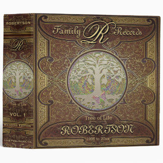 Family Tree | Antique Vintage Leather Book Look