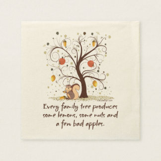 Family Tree Humor Paper Napkin