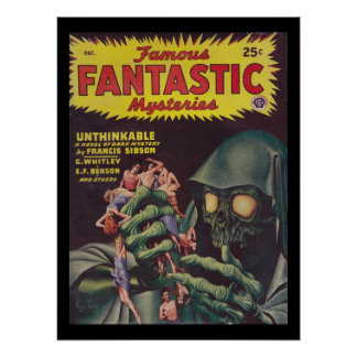 Famous Fantastic Mysteries 46-12_Pulp Art Poster