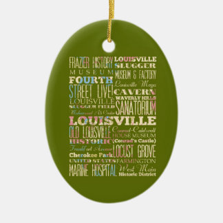 Famous Places of Louisville, Kentucky. Christmas Ornament