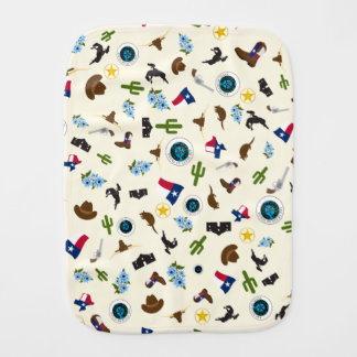 Famous Texas items- the lone star state Baby Burp Cloths
