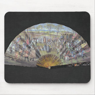Fan depicting the marriage of Louis of France Mouse Pad