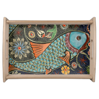 Fanciful Fish Serving Tray