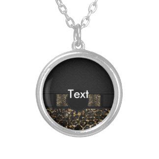 Fancy Animal Print Monogram Round Pendant Necklace
