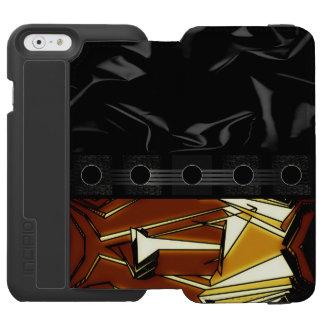 Fancy Black Brown Abstract Incipio Watson™ iPhone 6 Wallet Case