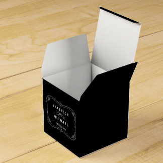 Fancy Chalkboard Vintage Wedding Favor Box Party Favour Box