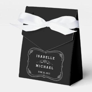 Fancy Chalkboard Vintage Wedding Favor Box Wedding Favour Box
