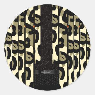 Fancy Cheetah Camo Classic Round Sticker
