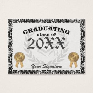 Fancy Class of Graduation Diploma