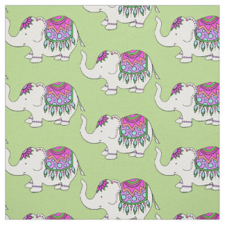 Fancy Elephant Fabric