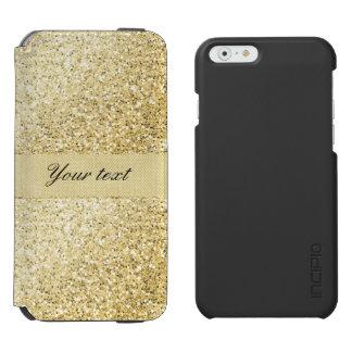 Fancy Faux Gold Glitter Personalized Incipio Watson™ iPhone 6 Wallet Case