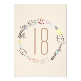 Fancy Flowers and Diamonds 18th Birthday Card