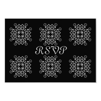 Fancy gothic victorian RSVP 9 Cm X 13 Cm Invitation Card