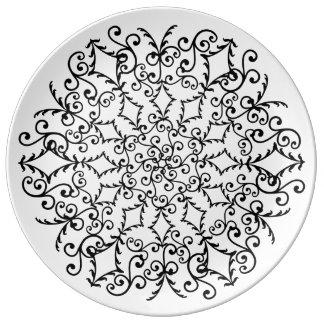 fancy Mandala Plate