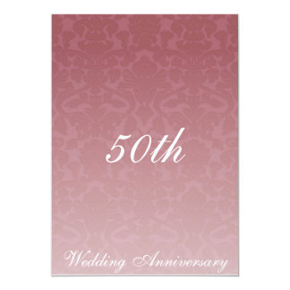 Fancy Merlot Damask Wedding Anniversary Invitaiton 13 Cm X 18 Cm Invitation Card