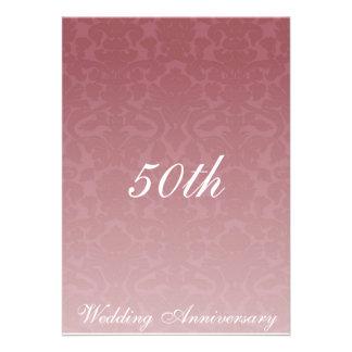 Fancy Merlot Damask Wedding Anniversary Invitaiton Invitations