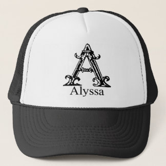 Fancy Monogram: Alyssa Trucker Hat