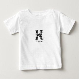 Fancy Monogram: Karen Baby T-Shirt