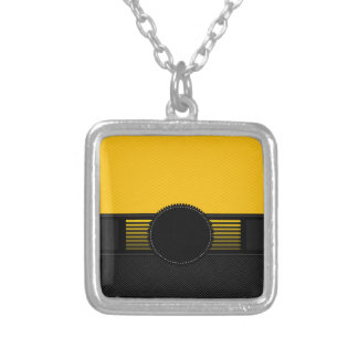 Fancy Monogram Square Pendant Necklace