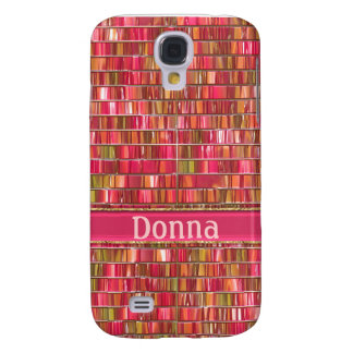 Fancy Pink Glass Mosaic Galaxy S4 Case