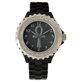 Fancy Silver Ankh Watches