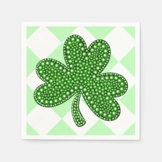 Fancy St Patrick's Day Shamrock Party Paper Napkin