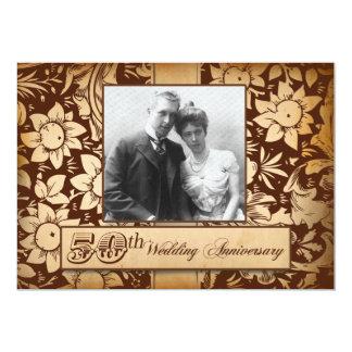 fancy vintage 50th wedding anniversary invitations