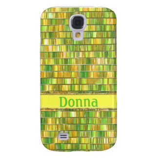 Fancy Yellow Green Glass Mosaic Galaxy S4 Case