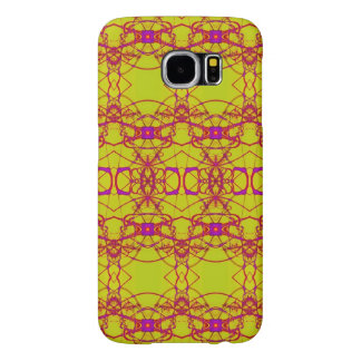 Fancy Yellow pink lace pattern Samsung Galaxy S6 Cases