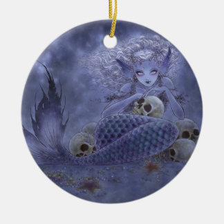 Fantasy Art Ornament - Dark Mermaid