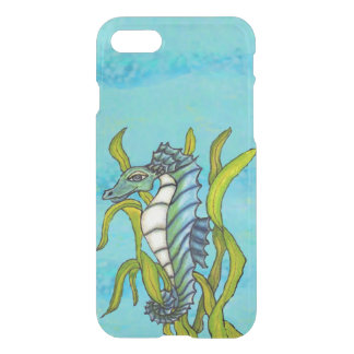 Fantasy Blue Sea Dragon Seahorse Seaweed iPhone 7 Case