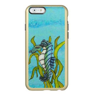 Fantasy Blue Sea Dragon Seahorse Seaweed Incipio Feather® Shine iPhone 6 Case